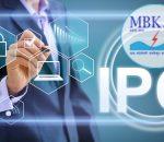 Businessman Presses Button Ipo Initial Public Offering Diagram O